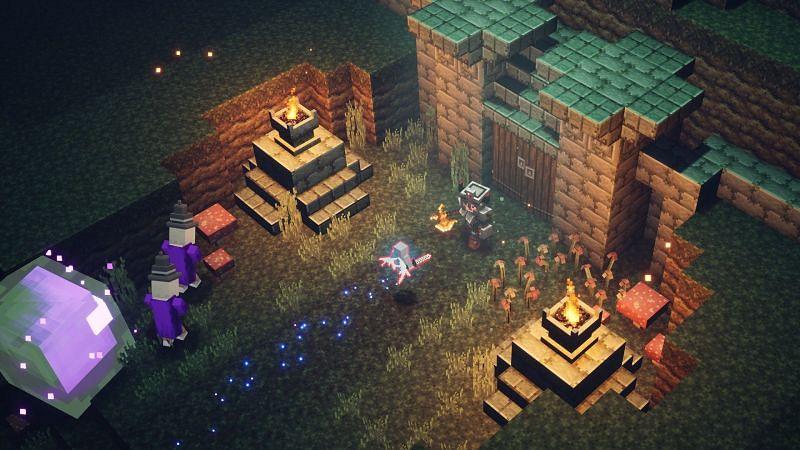 Dungeons gameplay (Image via shacknews)