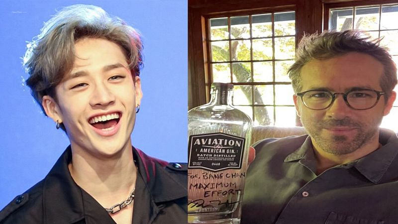 Bang Chan and Ryan Reynolds are fans of each other! (Image via Bias Wrecker and Twitter)