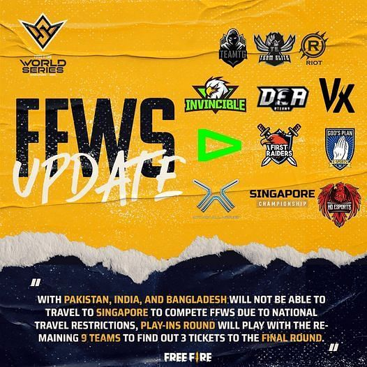 Free Fire World Series 2021 Singapore Play-Ins Teams