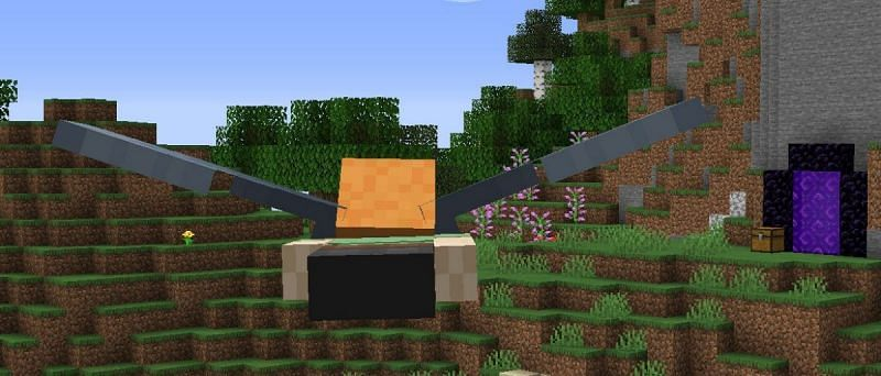 A Minecraft player flying with the Elytra (Image via Mojang)