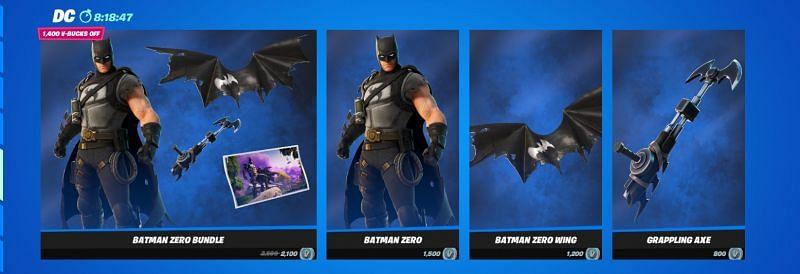 Batman Zero Bundle is Leaving the Item Shop Tonight {Image via Epic Games}