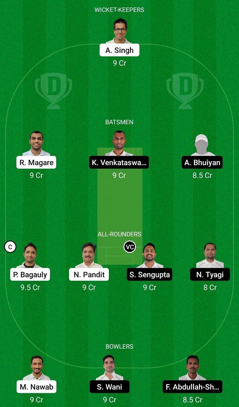 Dream11 Team for United CC vs Prague Spartans Vanguards - ECS T10 Prague 2021.