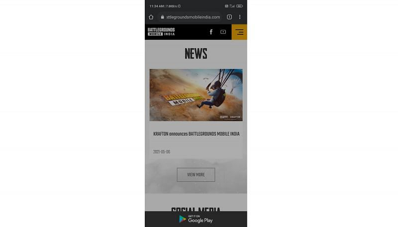 A Google Play Store option on the official website