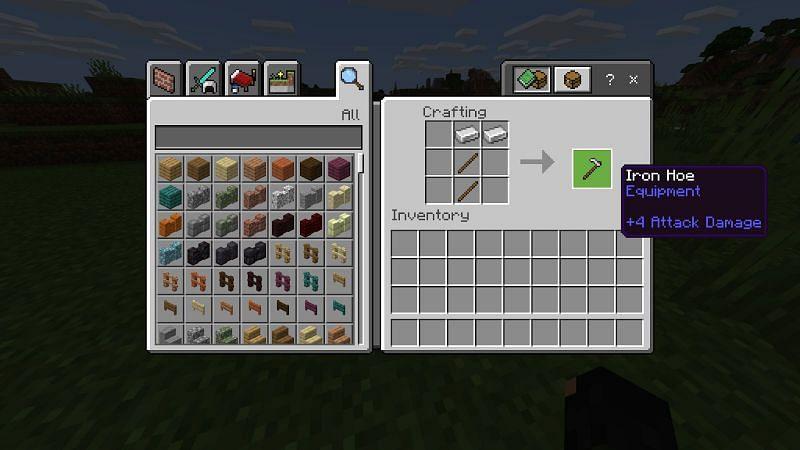 Crafting Crop Frams in Minecraft