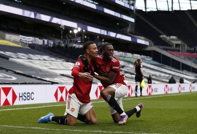 Mason Greenwood celebrates his goal in a 3-1 Manchester United comeback win against Tottenham