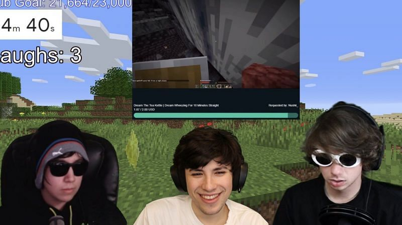 Quackity, Karl and George stream train/Image via George, Twitch stream