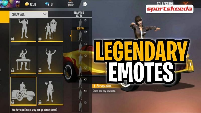 The best legendary emotes in Free Fire as of May 2021