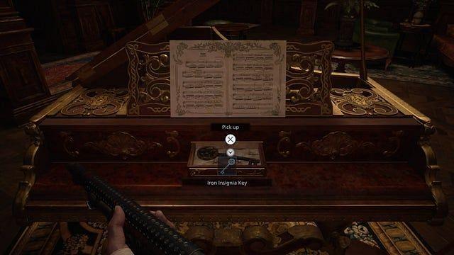 The Iron Insignia Key in Resident Evil Village (Image via CAPCOM)