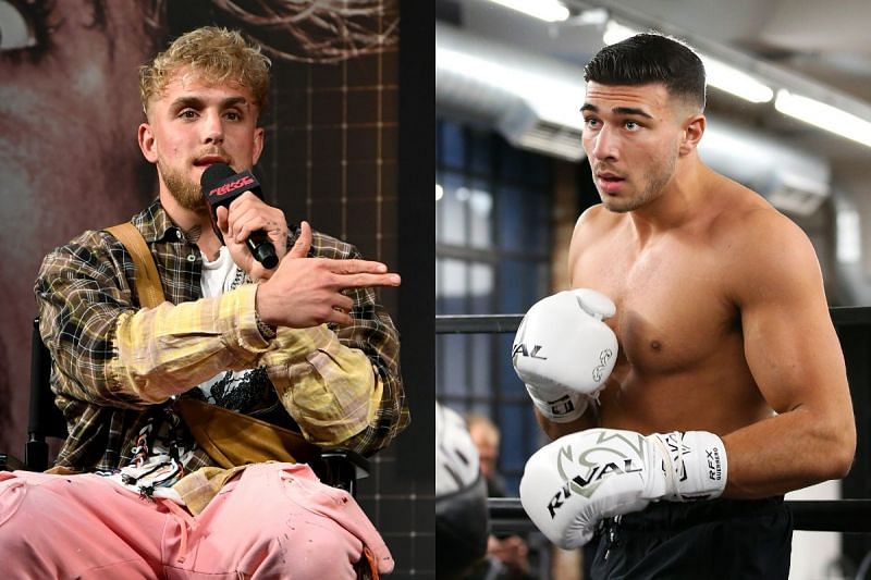 Jake Paul (Left) takes a dig at Tommy Fury (Right)