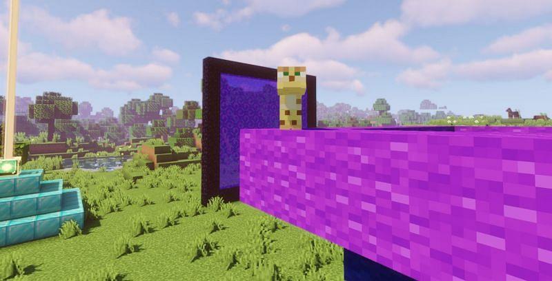 An Ocelot living on the edge (Image via Minecraft)