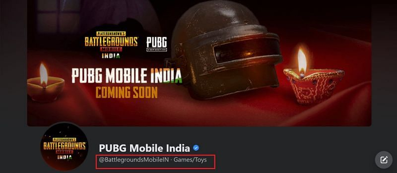 The user name of the official PUBG Mobile India facebook page has been changed