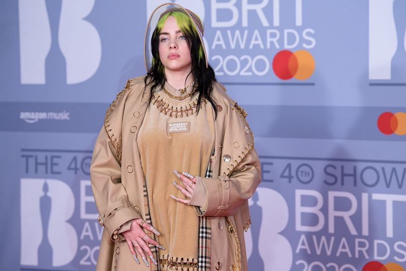 Billie Eilish attends the 2020 BRIT Awards