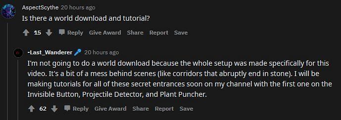 OP confirms to be creating tutorial videos (Image via Reddit)