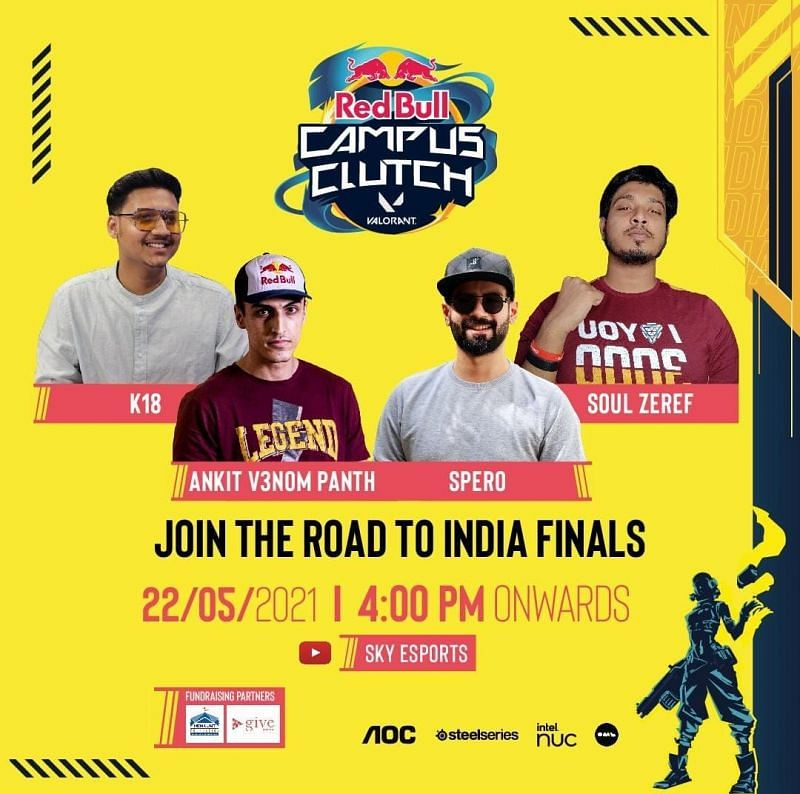 The Red Bull Campus Clutch: Road to National Finals Valorant tournament kicks off today
