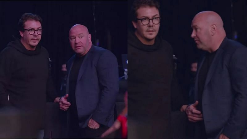 UFC president Dana White with Hunter Campbell