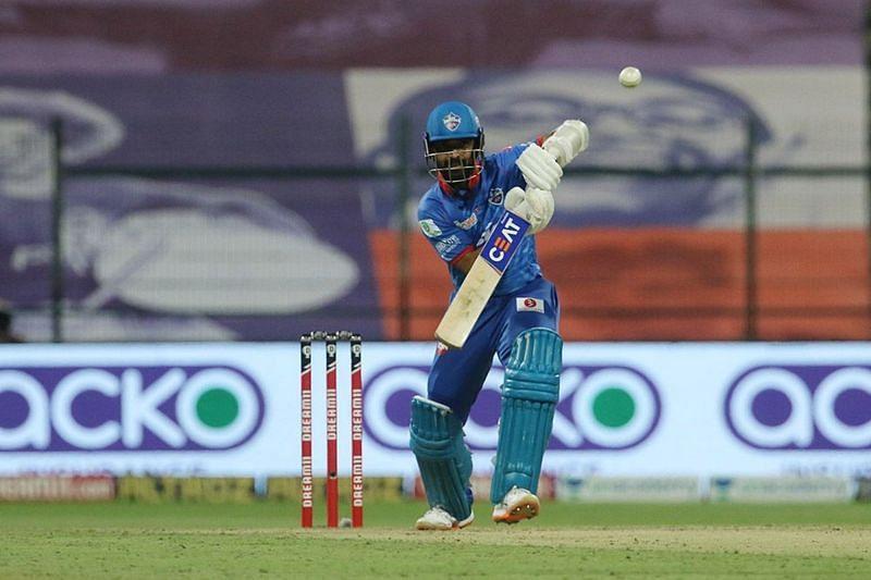 Ajinkya Rahane in action for the Delhi Capitals (Image Courtesy: IPLT20.com)