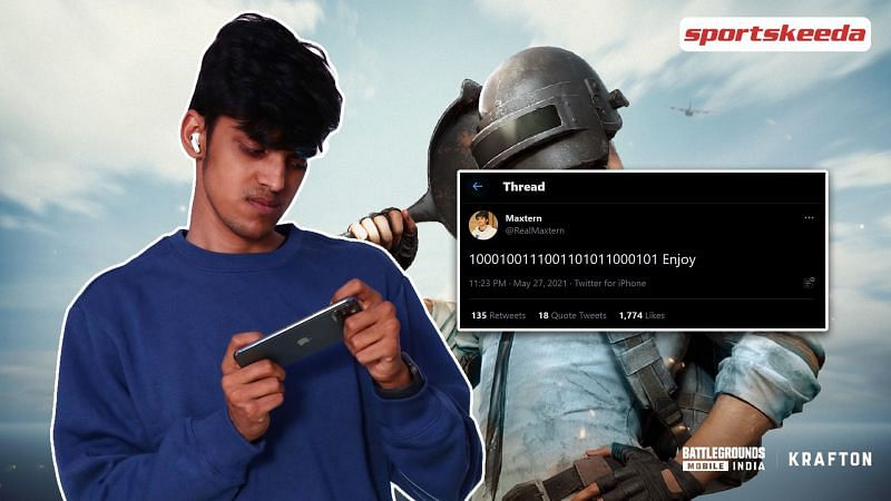 Maxtern may have revealed the release date for Battlegrounds Mobile India in a tweet (Image via Sportskeeda)
