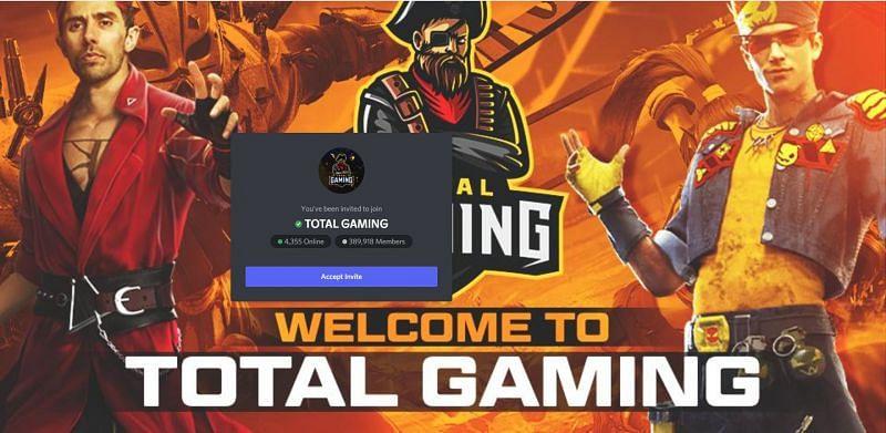 Total Gaming has more than 390k discord members