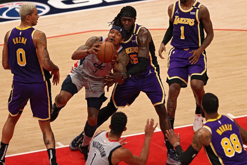 Bradley Beal (#3) in action against the LA Lakers.