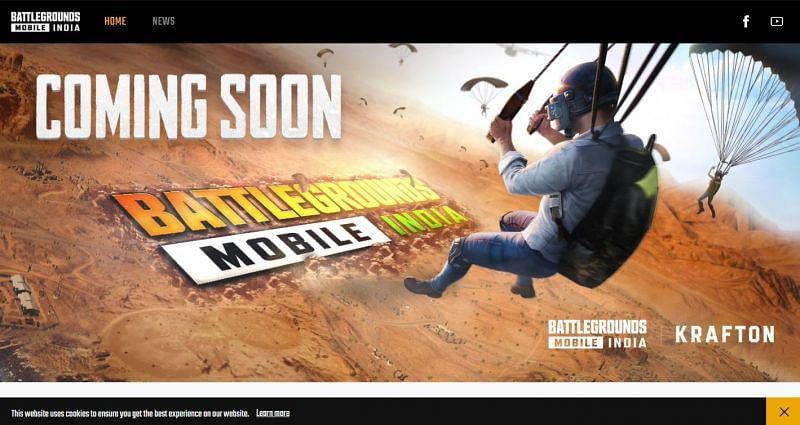 Official website of Battlegrounds Mobile India