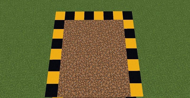 Building the farm (Image via Minecraft)