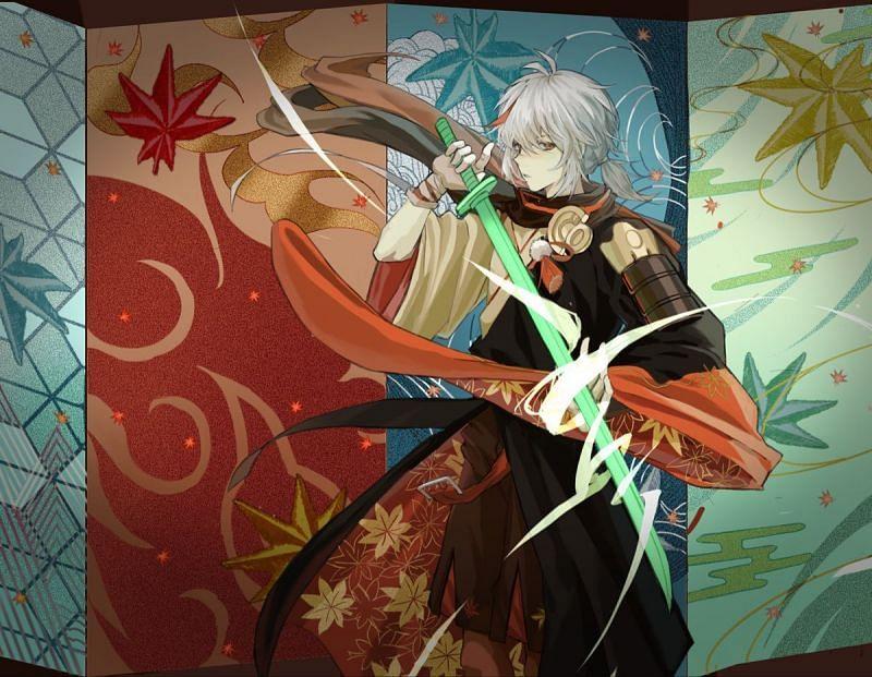 There's plenty of Kazuha info to go around (Image via Wallpaper Abyss)