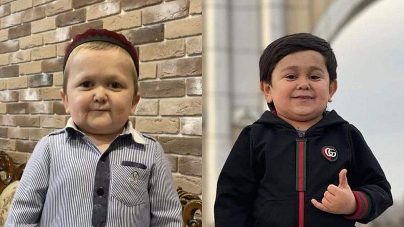 Hasbulla Magomedov (left) and Abdu Rozik (right) [Image Courtesy: @khabib_nurmagomedov and @abdu_rozik on Instagram]