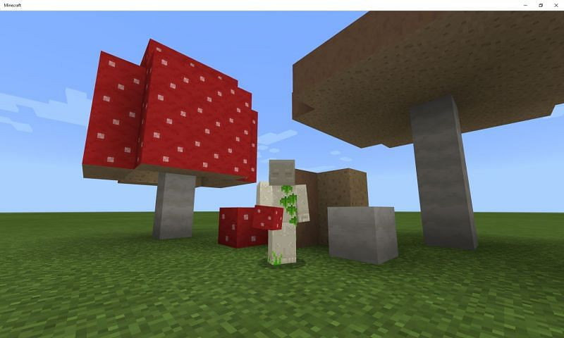 Huge mushrooms in Minecraft (Image via Mojang)