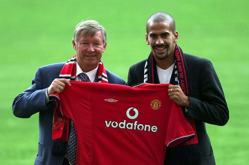 Sir Alex Ferguson and Juan Sebastian Veron