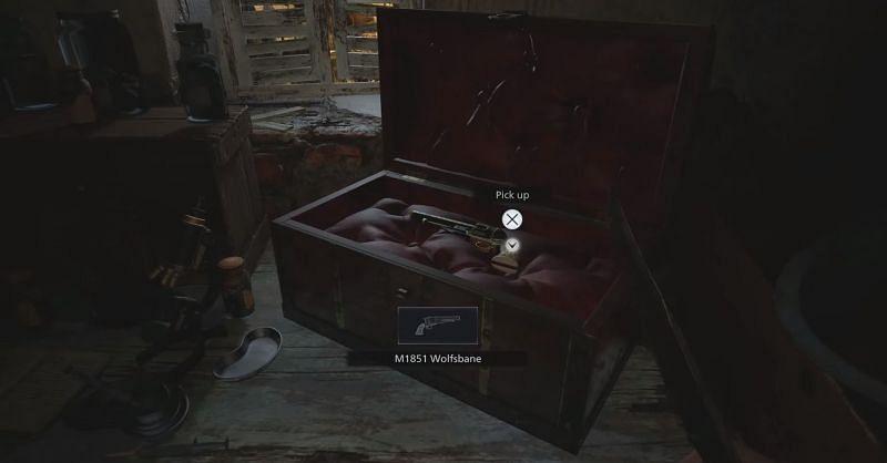 Moreau's hidden Wolfsbane Magnum M1815 in Resident Evil Village (Image via CAPCOM)