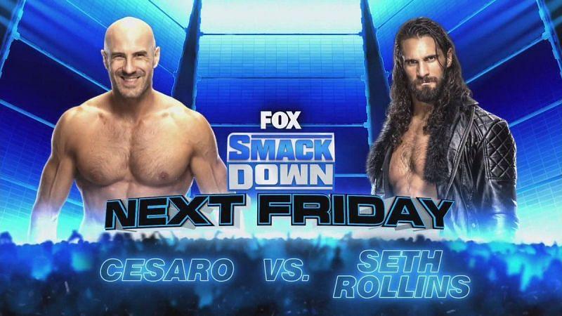 Cesaro will take on Seth Rollins on next week