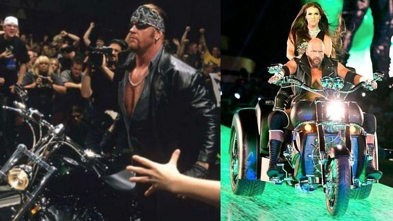 WWE सुपरस्टार्स की गाड़ियों और मोटरसाइकिल से एंट्री