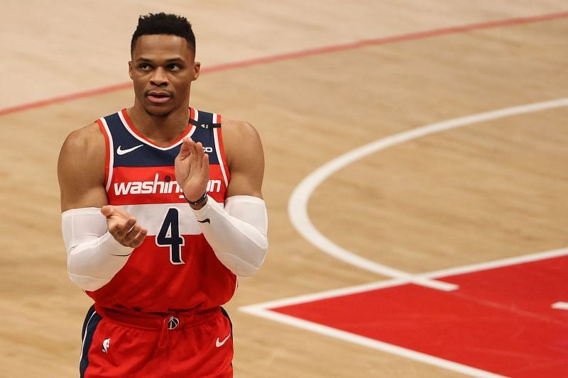 Russell Westbrook of the Washington Wizards is sizzling this season.