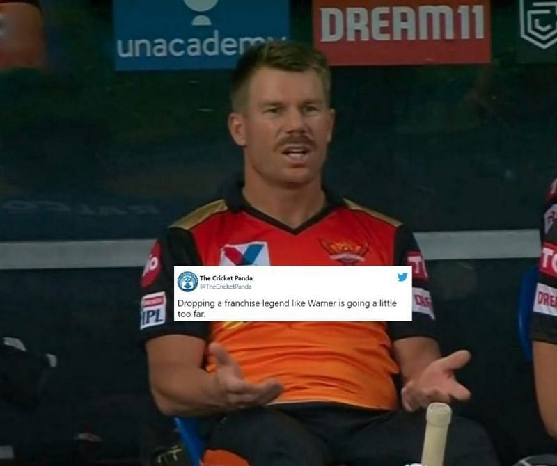 David Warner has been dropped from SRH