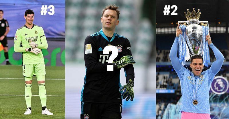 Thibaut Courtois, Manuel Neuer and Ederson