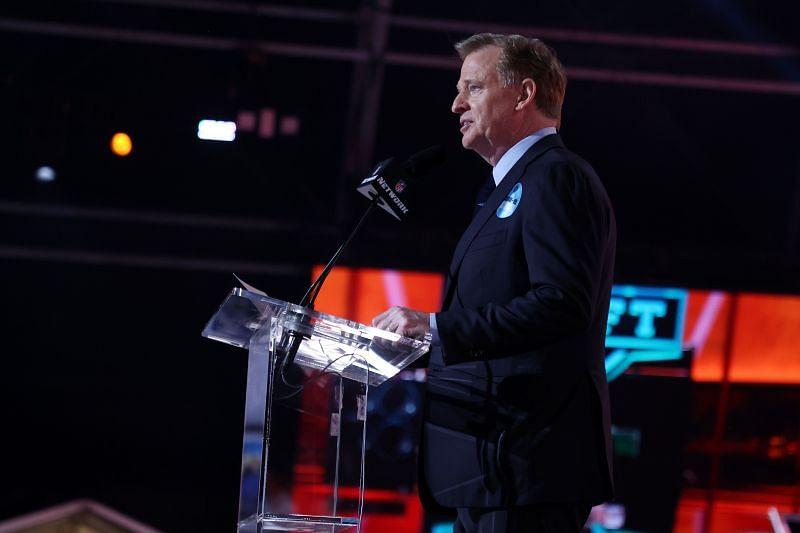 NFL Commissioner Roger Goodell announces Ja
