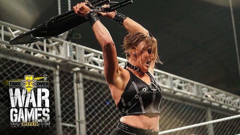Rhea Ripley sure is a big fan of using weapons