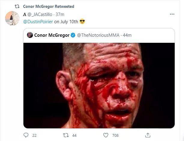 Conor McGregor retweeted his fan