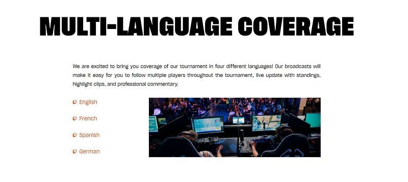 The Fortnite DreamHack Open features a multi-language coverage. Image via DreamHack Open