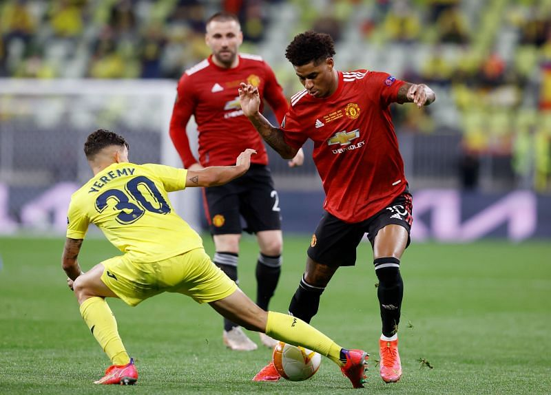 Marcus Rashford struggled to make an impact on the pitch yesterday against Villarreal