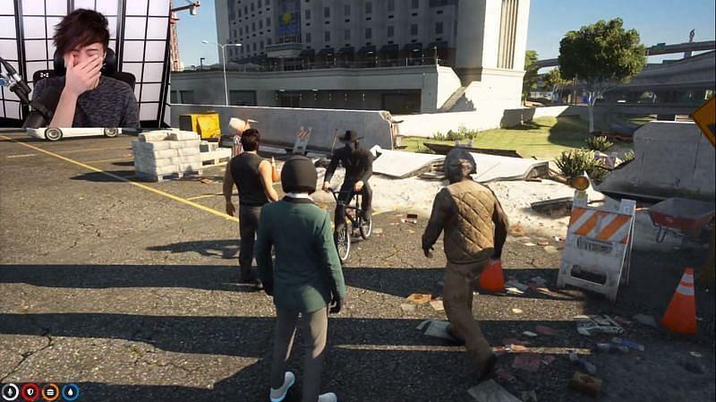 Corpse Husband finally joins the GTA RP server (Image via Sportskeeda)