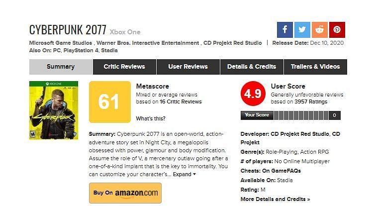 Image via Metacritic