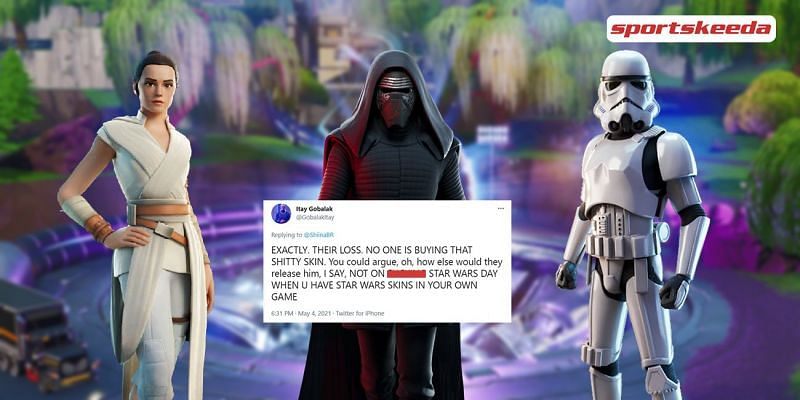 """Fans enraged as the """"May the 4th be with you"""" event will not return in Fortnite Season 6 (Image via Sportskeeda)"""