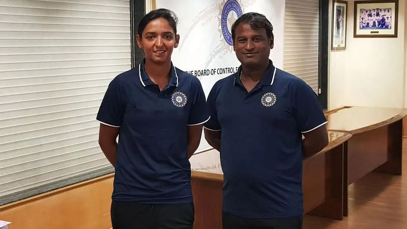 Ramesh Pawar (R) with India