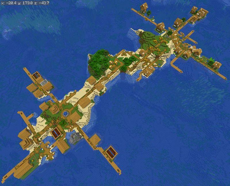 Unusual village (Image via u/BigBrain5Head)