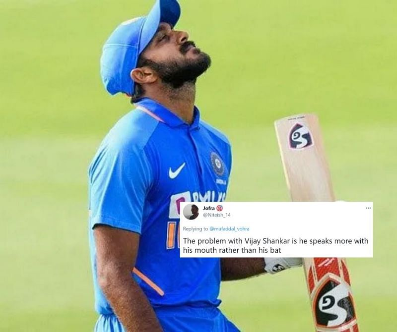 Vijay Shankar attracted the wrath of fans on Monday