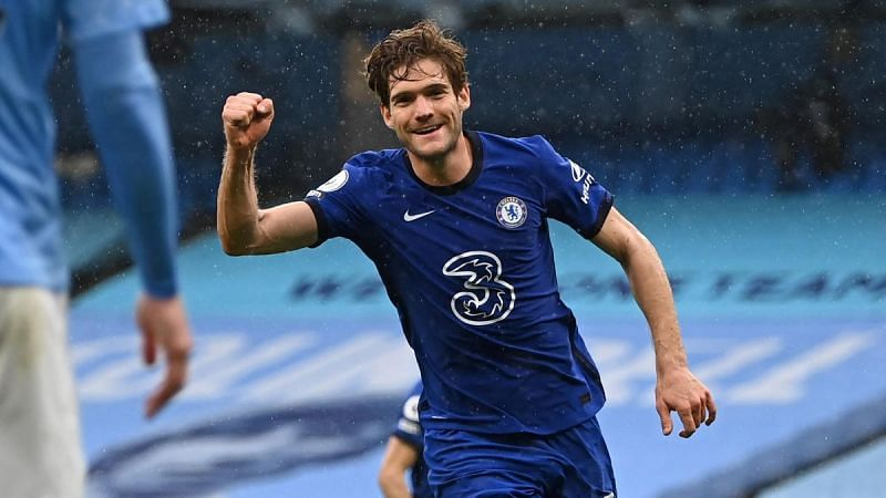Alonso celebrates his winner for Chelsea