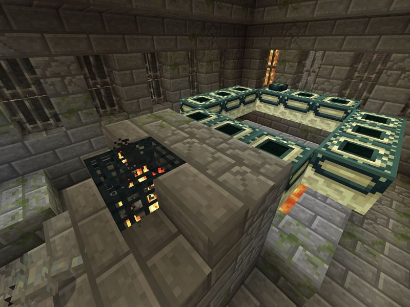 End portal in stronghold (Image via Minecraft)
