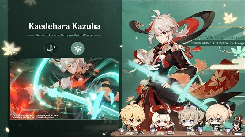 The official confirmation for Kazuha's voice actors (Image via Genshin Impact)