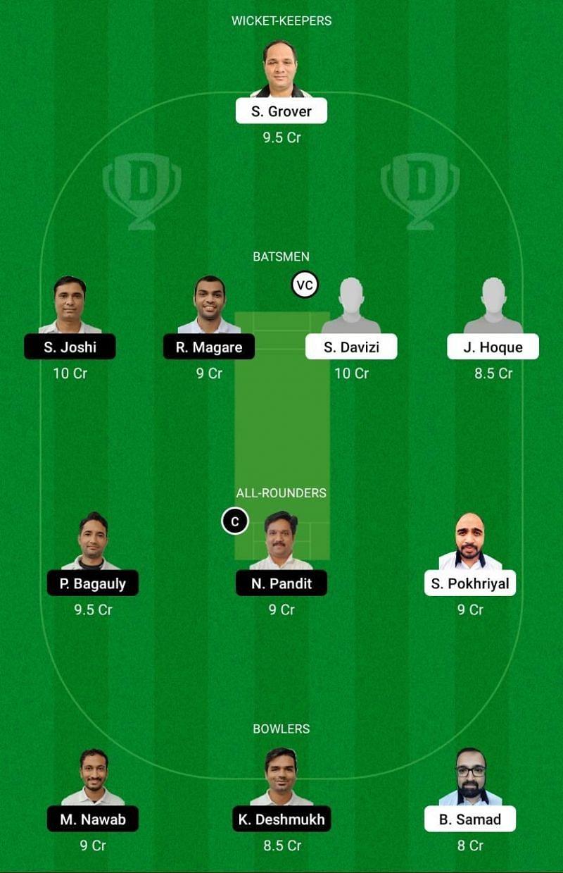 PBV vs UCC Dream11 Team